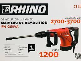 MARTEAU PIQUEUR SDS MAX 7KG 1200W G50VA RHINO