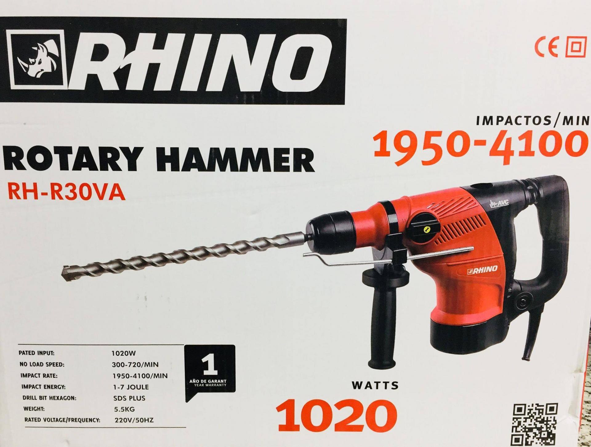 MARTEAU PERFORATEUR SDS 5.5KG 1020W RH-R30VA RHINO